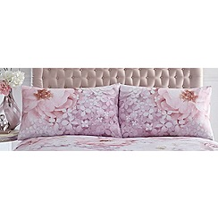 Star by Julien Macdonald - Pink floral 'Stella' pillowcases