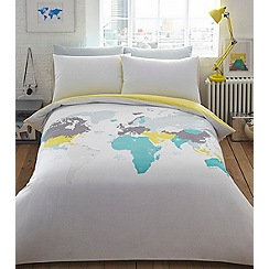 Ben de Lisi Home - Multicoloured printed 'World Explorer' bedding set