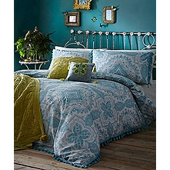 Butterfly Home by Matthew Williamson - Turquoise printed 'Mandala' bedding set