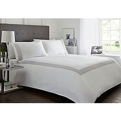 J by Jasper Conran - White 300 thread count embroidered stitch 'Richmond' bedding set