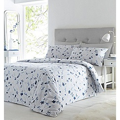 Home Collection - Blue printed floral 'Reenell' bedding set
