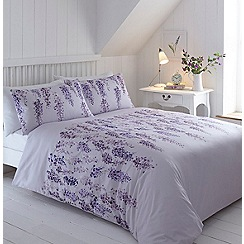 Home Collection - Lilac printed floral 'Wisteria' bedding set