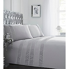 Star by Julien Macdonald - Silver embellished 'Destiny' bedding set