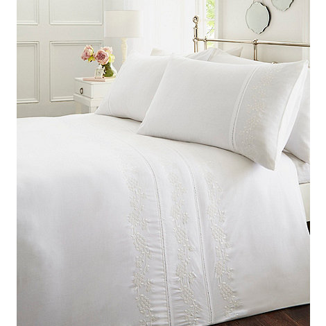 Home Collection Cream Embroidered Bedding Set Debenhams