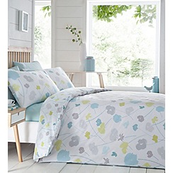 Home Collection - Multicoloured printed 'Scattered Flowers' bedding set