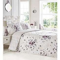 Home Collection - White printed 'Romantic Floral' bedding set