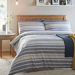 Home Collection - Blue woven striped 'Coastal Stripe' bedding set