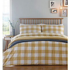 Home Collection - Yellow 'Woven Check' bedding set