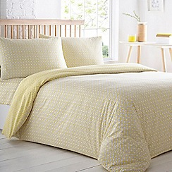 Home Collection Basics - Yellow printed pack of two bedding sets