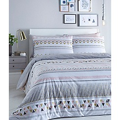 Home Collection Basics - Multi-coloured 'Cosmo' geometric print bedding set