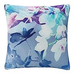 Lipsy - Purple orchid print cushion