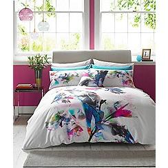 Lipsy - Multicoloured 'Watercolour Lily' bedding set