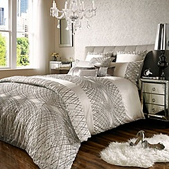 Kylie Minogue at home - Esta oyster ivory duvet cover