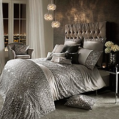 Kylie Minogue at home - Esta silver duvet cover