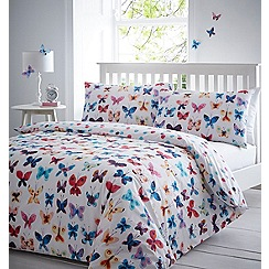 Home Collection - Multicoloured printed 'Melanie' bedding set