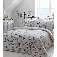 Home Collection - Light grey floral 'Julietta' bedding set