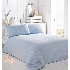 RJR.John Rocha - Blue textured 'Nora' bedding set