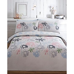 RJR.John Rocha - Off white printed floral 'Avery' bedding set