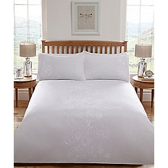 Home Collection - Off white embroidered 'Grace' bedding set