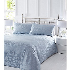 Home Collection - Blue 'Melissa' jacquard bedding set