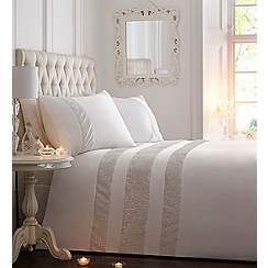 Star by Julien Macdonald - Off white embellished 'Kinsley' bedding set