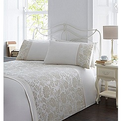 Home Collection - Cream flocked 'Gillian' bedding set