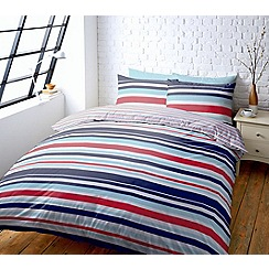 Help for Heroes - Tri-colour striped bedding set
