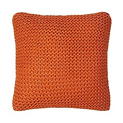 Home Collection - Orange 'Hygge' knitted cushion