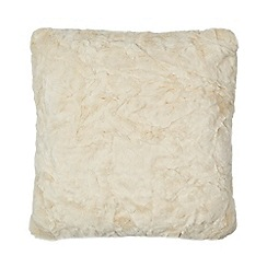 Home Collection - Ivory faux fur cushion