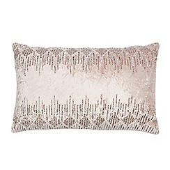 Star by Julien Macdonald - Pink embellished empire crush cushion