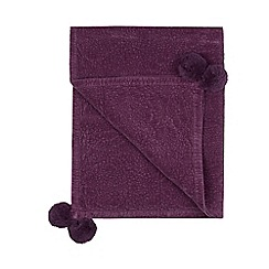 Butterfly Home by Matthew Williamson - Purple textured throw
