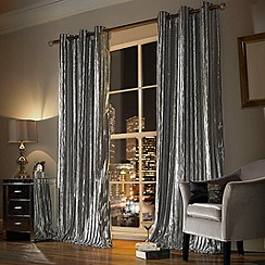 Kylie Minogue at home - Iliana silver curtain
