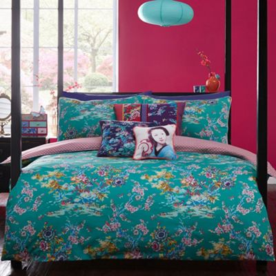Butterfly Home by Matthew Williamson Designer green Japanese Chinoise bedding set - . -