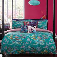 Designer green Japanese Chinoise bedding set