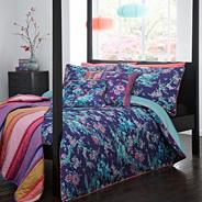 Matthew Williamson purple 'Japanese' chinoise bedding set