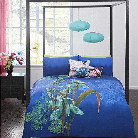 Butterfly Home by Matthew Williamson - Designer blue +Iris+ bedding set