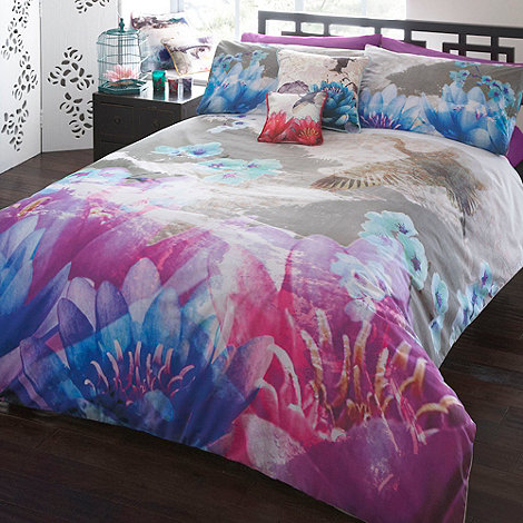 Butterfly Home by Matthew Williamson - Designer purple lotus bedding set