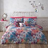 Designer blue 'Fantasy Butterflies' bedding set