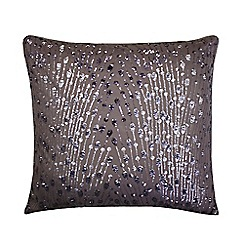 Kylie Minogue at home - Mauve 'Eva' rectangle cushion