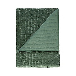 J by Jasper Conran - Green velvet throw