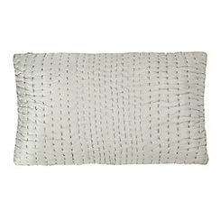 J by Jasper Conran - Silver hand-stitched cushion