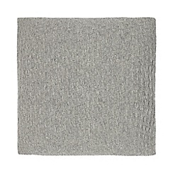 J by Jasper Conran - Grey knitted cushion with wool