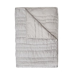 RJR.John Rocha - Grey ruched throw