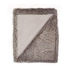 Star by Julien Macdonald - Grey faux fur throw