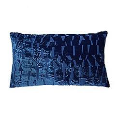 J by Jasper Conran - Blue velvet devore cushion