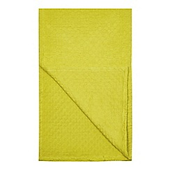 J by Jasper Conran - Green textured bedspread