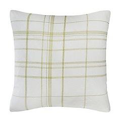 J by Jasper Conran - Green stitched cushion