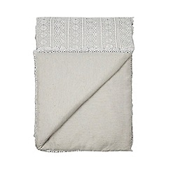 RJR.John Rocha - Pale grey crochet throw