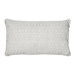 RJR.John Rocha - Grey crochet cushion