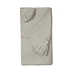 RJR.John Rocha - Grey knit throw